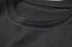 画像9: インド超長綿天竺タック衿Tシャツ|ブラック (9)