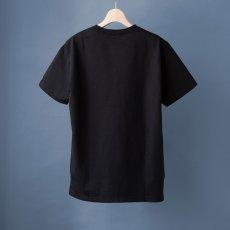 画像5: インド超長綿天竺タック衿Tシャツ|ブラック (5)