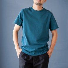 画像1: インド超長綿天竺タック衿Tシャツ|ディープグリーン (1)
