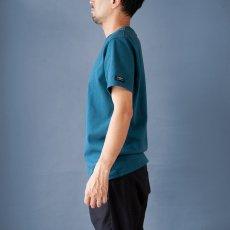 画像2: インド超長綿天竺タック衿Tシャツ|ディープグリーン (2)