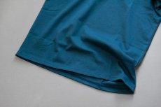 画像9: インド超長綿天竺タック衿Tシャツ|ディープグリーン (9)