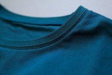 画像7: インド超長綿天竺タック衿Tシャツ|ディープグリーン (7)