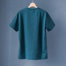 画像5: インド超長綿天竺タック衿Tシャツ|ディープグリーン (5)
