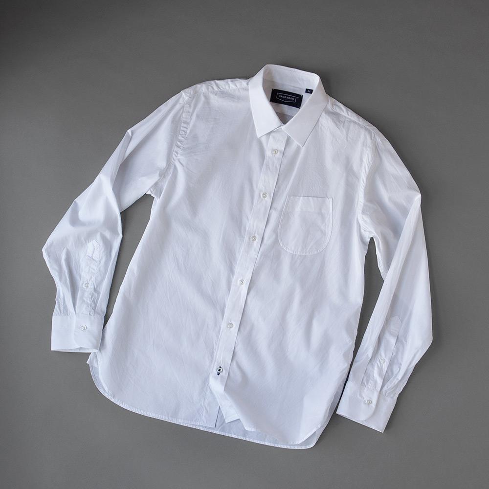 画像1: HANDROOM 160/2ブロードショートレギュラーシャツ (1)