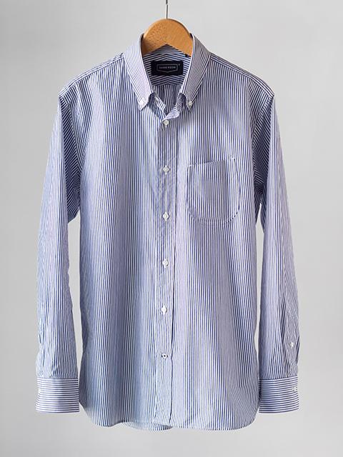 画像1: 【30%OFF】HANDROOM ボタンダウンシャツ|ストライプ (1)