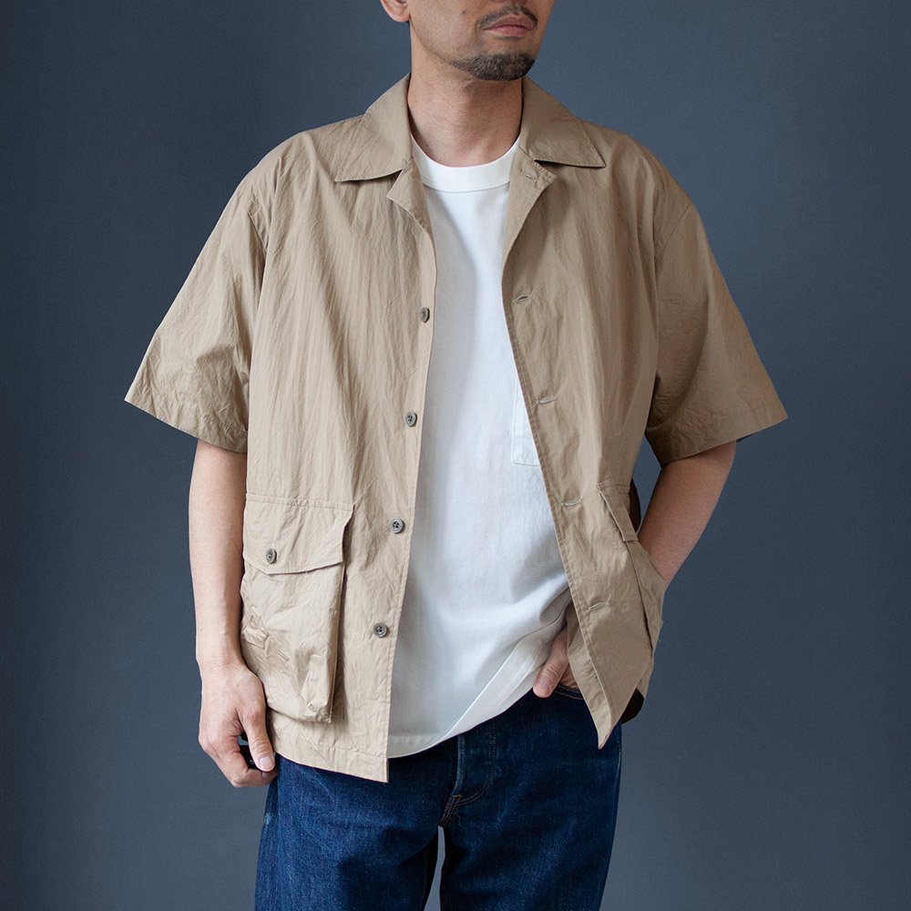 画像1: ポーターシャツ ベージュ (1)
