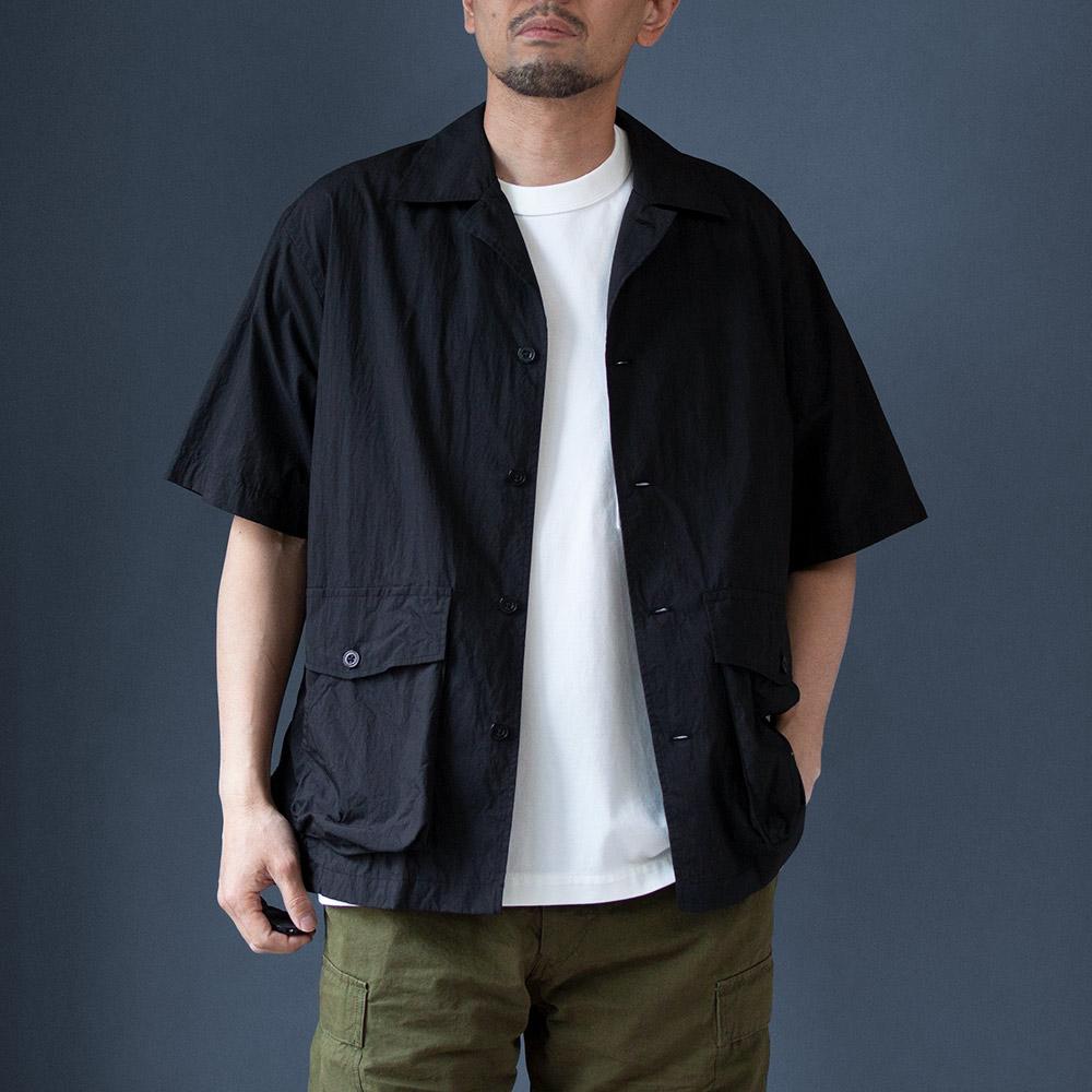 画像1: ポーターシャツ ブラック (1)