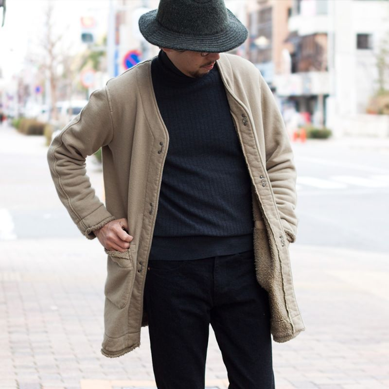 画像1: biography SUMMER MOUTON COAT|GRAYSH MASTARD (1)