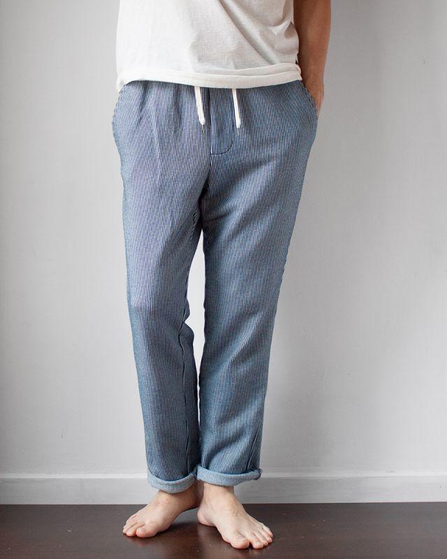 画像1: biography Indigo Hickory Sweat Pants (1)
