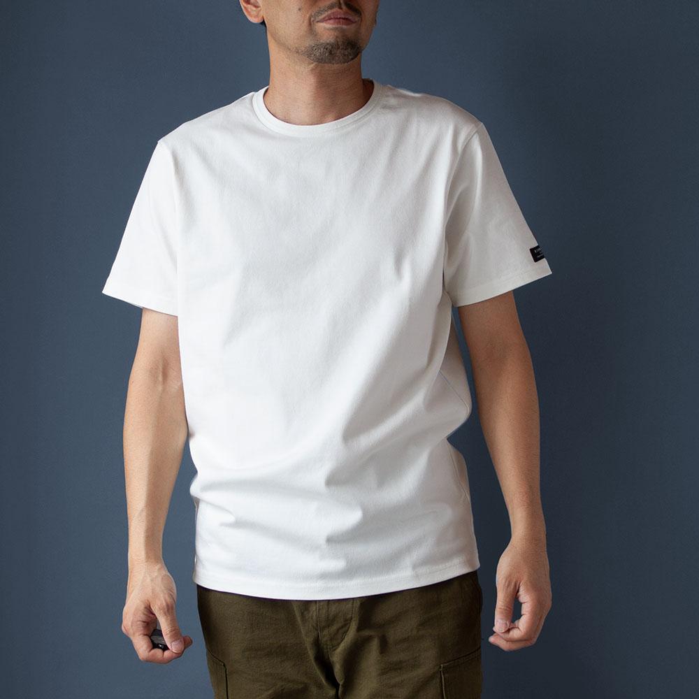 画像1: インド超長綿天竺タック衿Tシャツ|ホワイト (1)