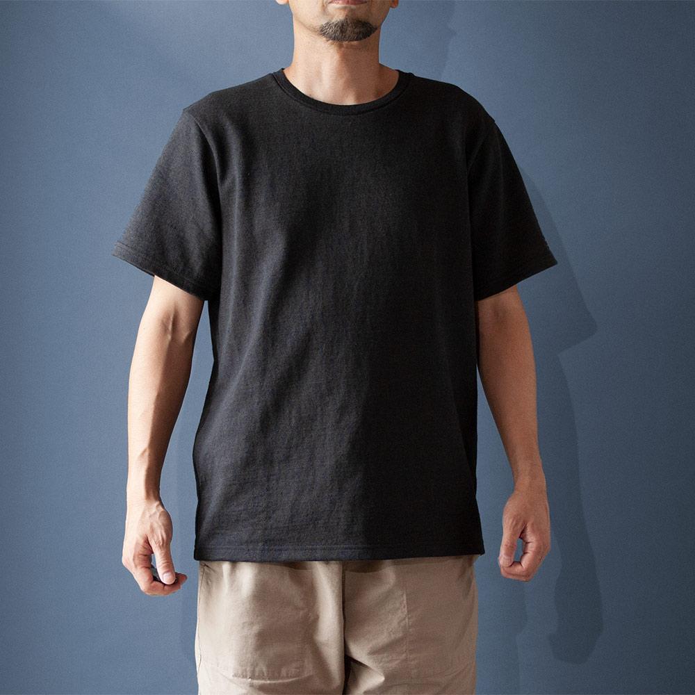 画像1: コットンリネンモンスターオンスTシャツ チャコール (1)