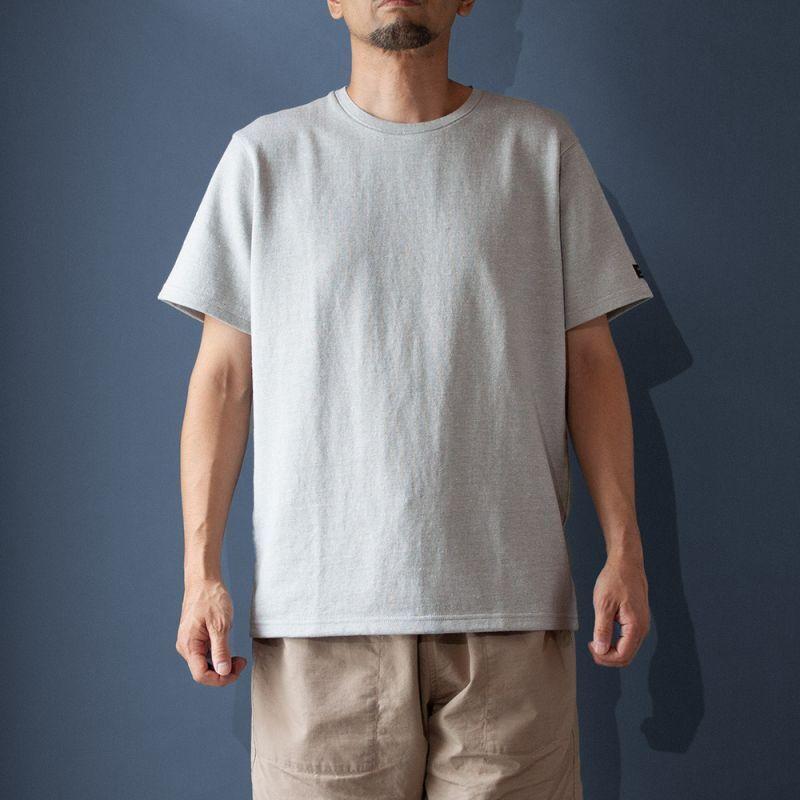 画像1: コットンリネンモンスターオンスTシャツ|グレー (1)