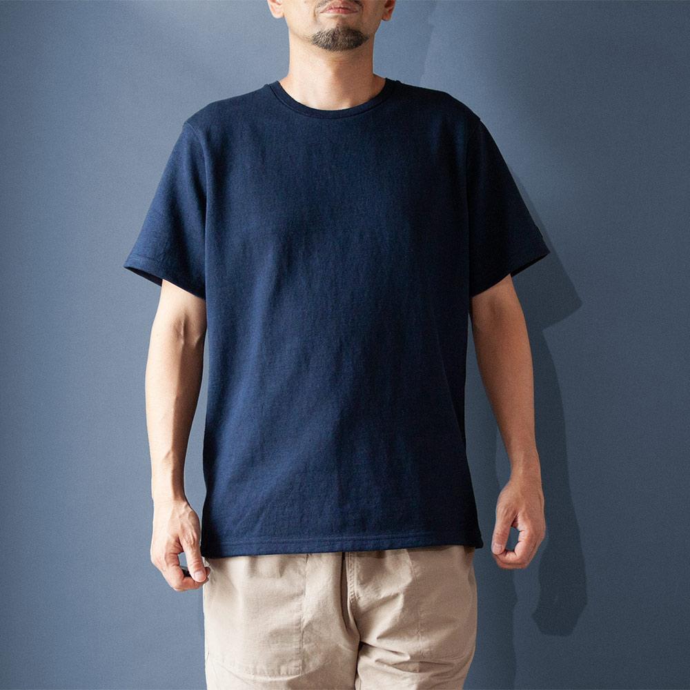 画像1: コットンリネンモンスターオンスTシャツ ネイビー (1)