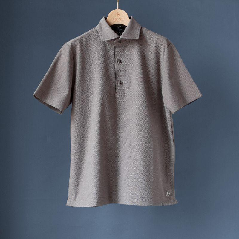 画像1: 【30%OFF!!】Harriss カッタウェイポロシャツ|ブラウン (1)