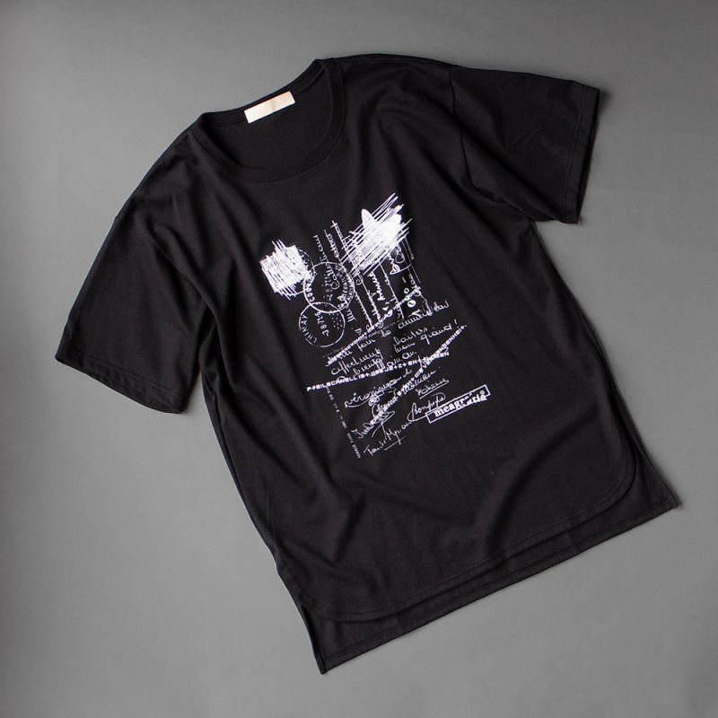 画像1: meagratia Print S/S Tee black (1)