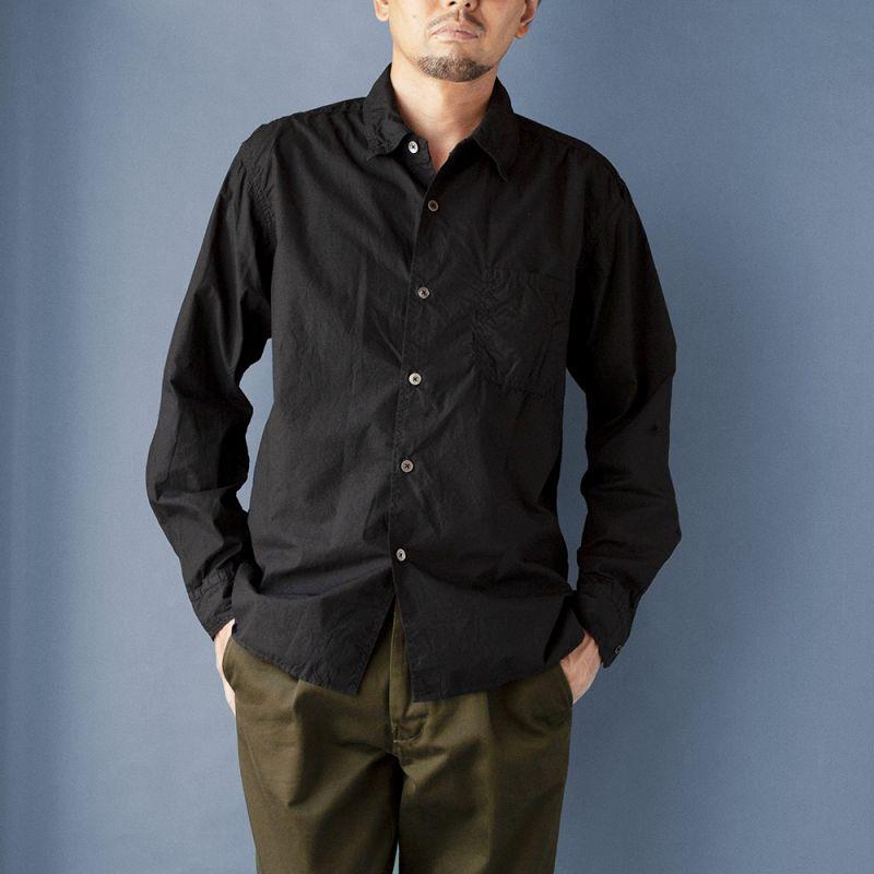 画像1: 【30%OFF】タイプライターパッカリングシャツ|ブラック (1)