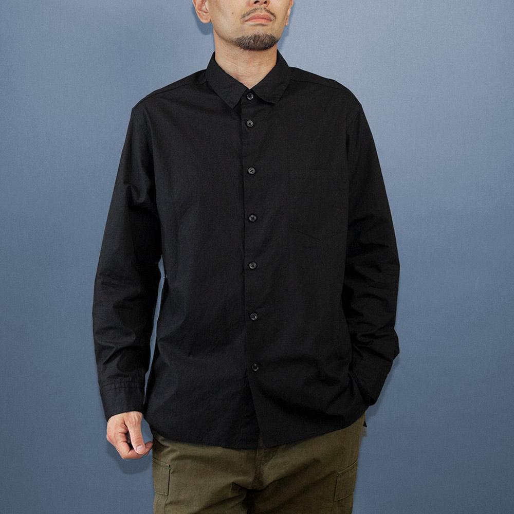画像1: タイプライターレギュラーシャツ ブラック (1)