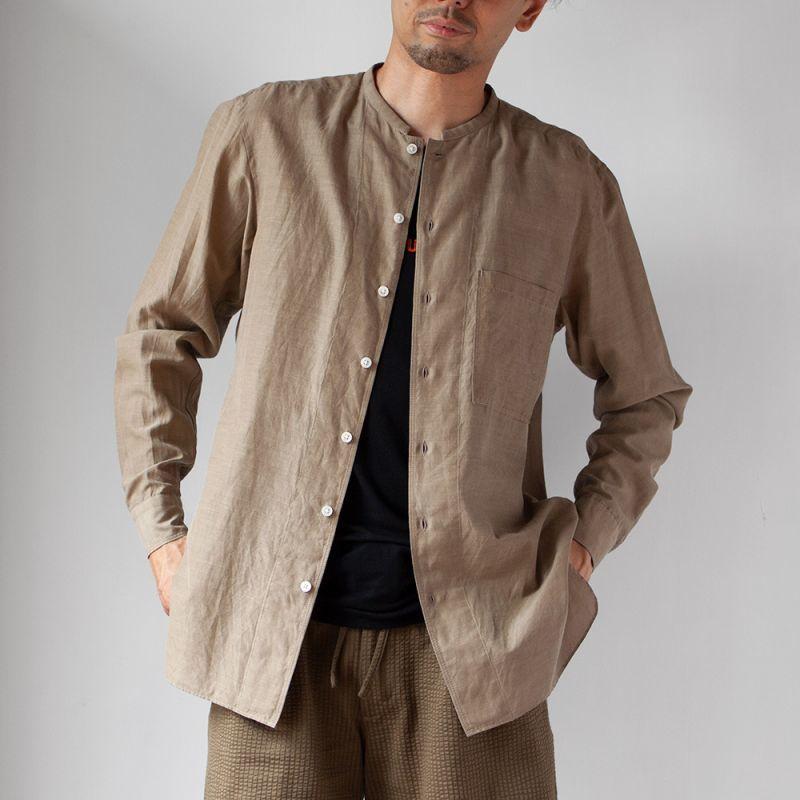 画像1: 【30%OFF】SAGE DE CRET 顔料プリントヘンリーネックシャツ (1)