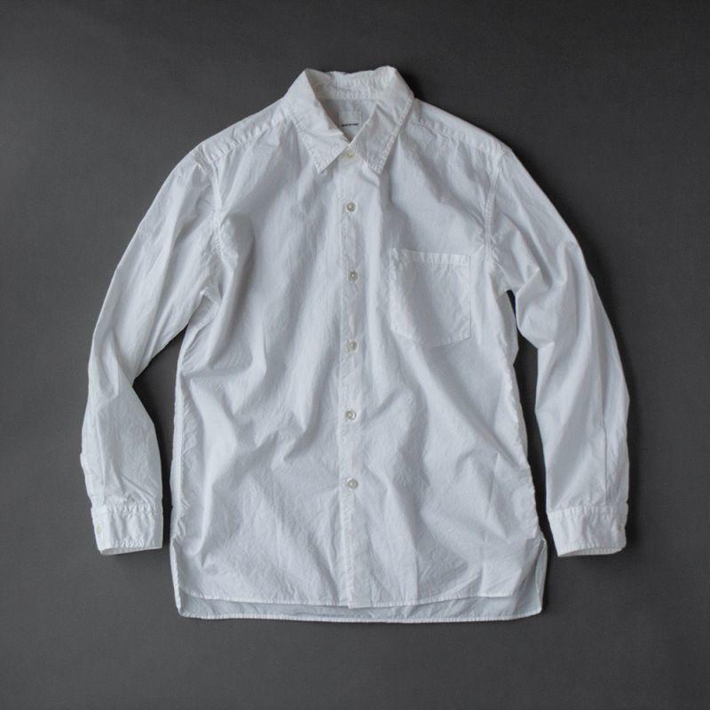 画像1: SAGE DE CRET タイプライターパッカリングシャツ|ホワイト (1)